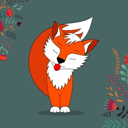 Crazy Little Fox Stickers