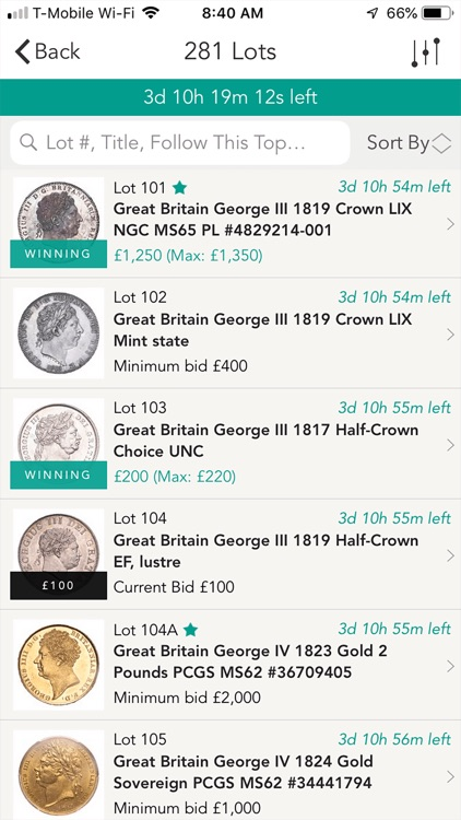 The Coin Cabinet Auctions screenshot-4