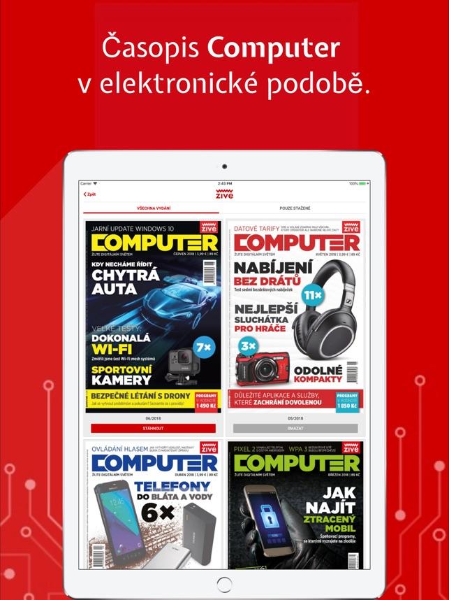 Živě cz a časopis Computer on the App Store