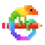 Pixel Art - Målarbok spel на пк