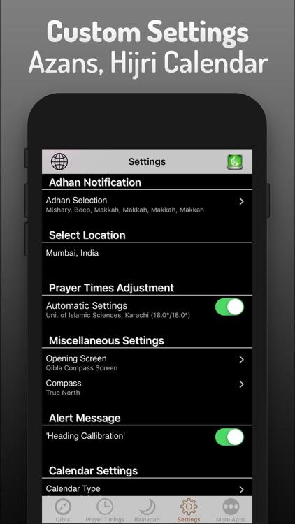 Islamic Qibla & Prayer Times screenshot-4