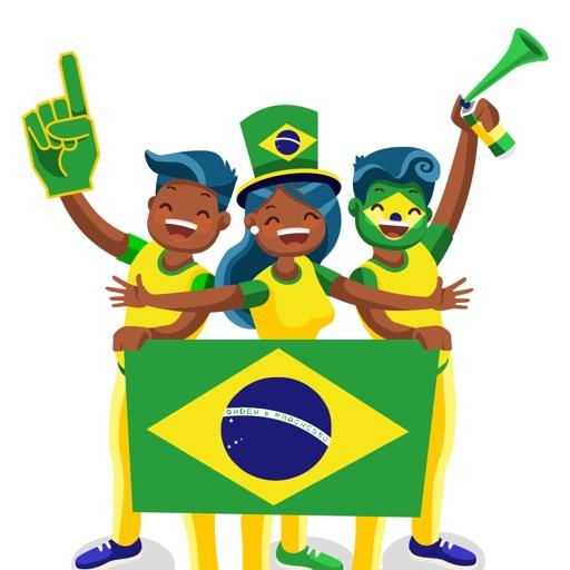 Brazil Football Fan's Stickers