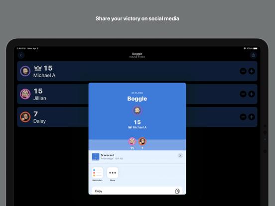 Ipad Screen Shot Scorecard: Point Tracker 7