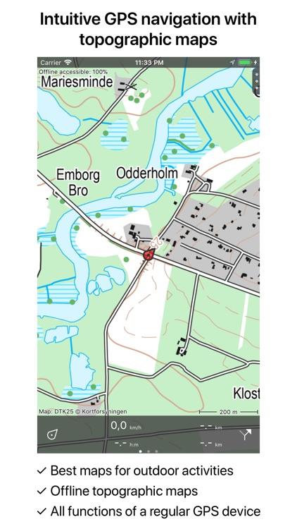 Topo GPS Denmark