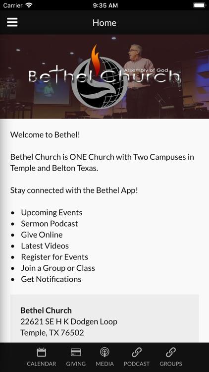 Bethel Church Temple, TX