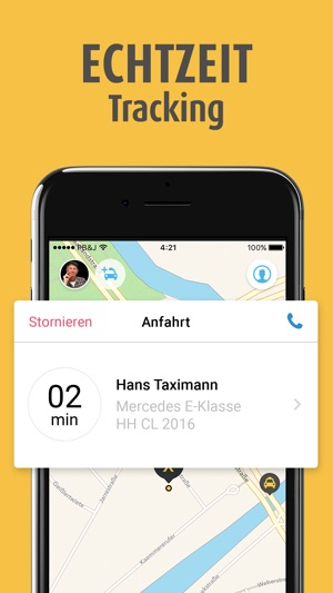 mytaxi - Lokale Taxis buchen Screenshot