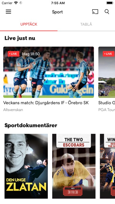 Screenshot for C More in Sweden App Store