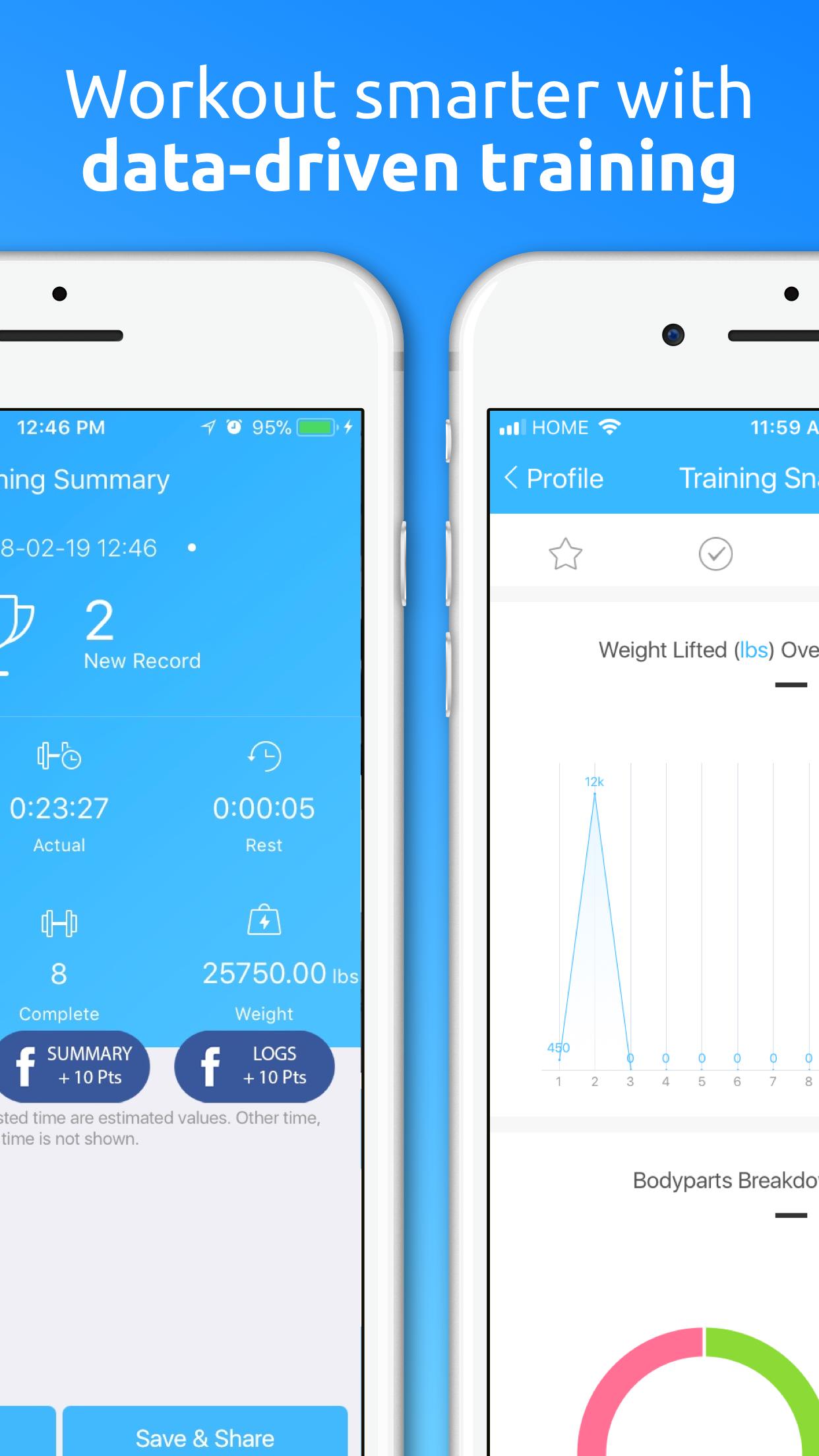 JEFIT Workout Planner Gym Log Screenshot