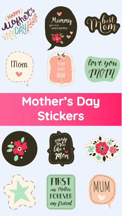 Mother's Day Love Stickers App