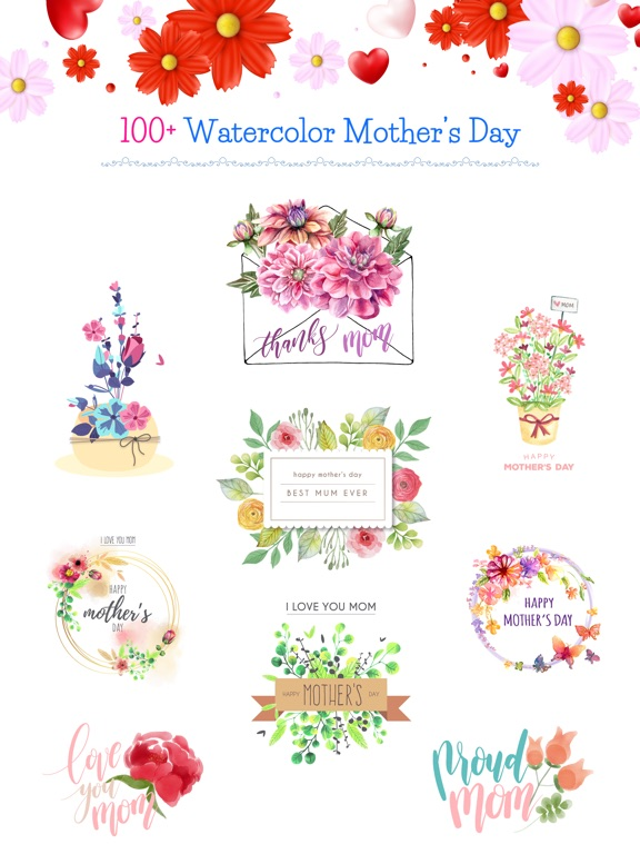 Watercolor Mother's Day Pack screenshot 6