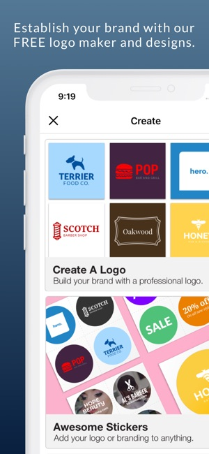 Business card maker logo app on the app store business card maker logo app on the app store reheart Choice Image