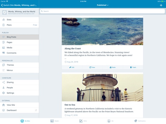 Screenshots for WordPress