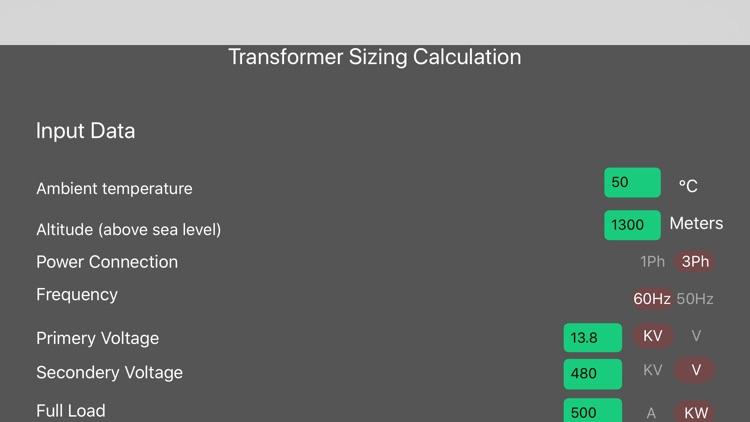 Transformer Sizing Calculation screenshot-6