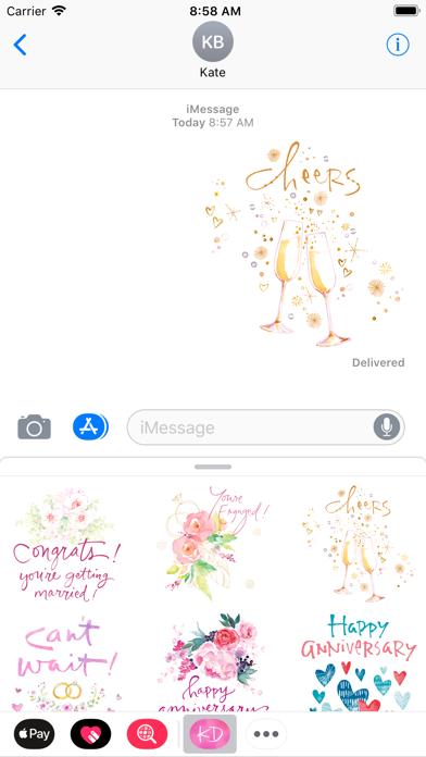 Kathy Davis Stickers screenshot three