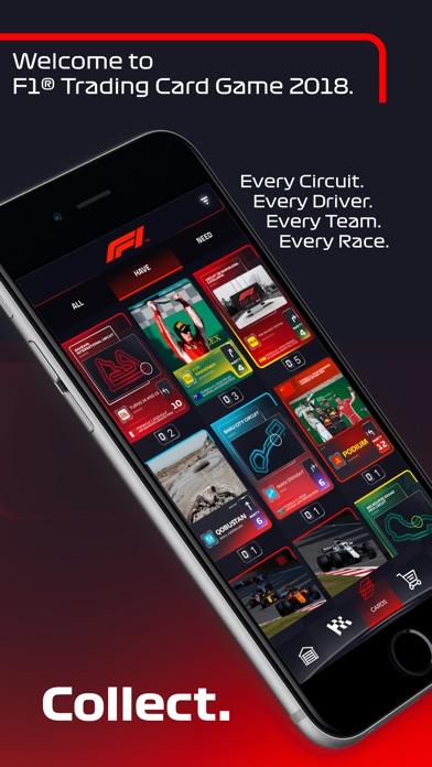 Screenshot 1 F1 Trading Card Game 2018
