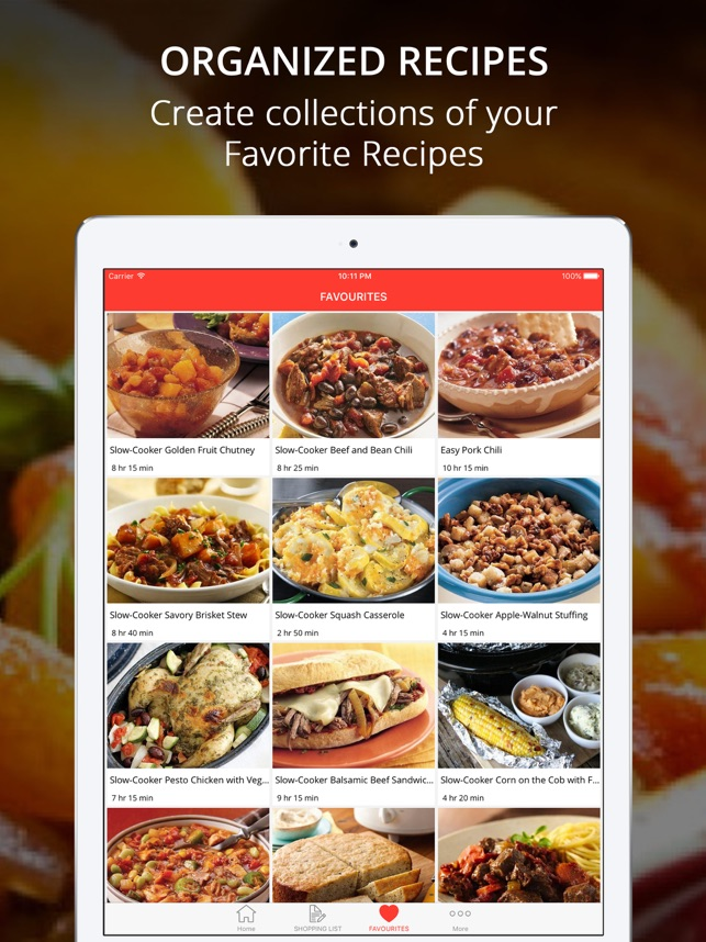 healthy crockpot recipes on the app store