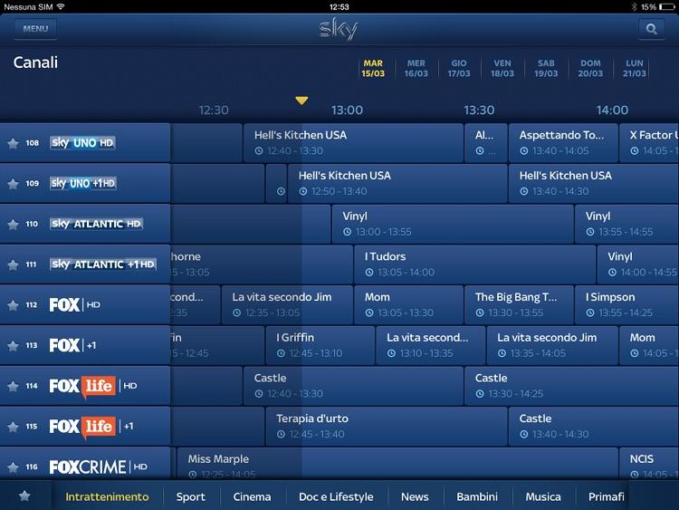 Sky Guida TV HD screenshot-3