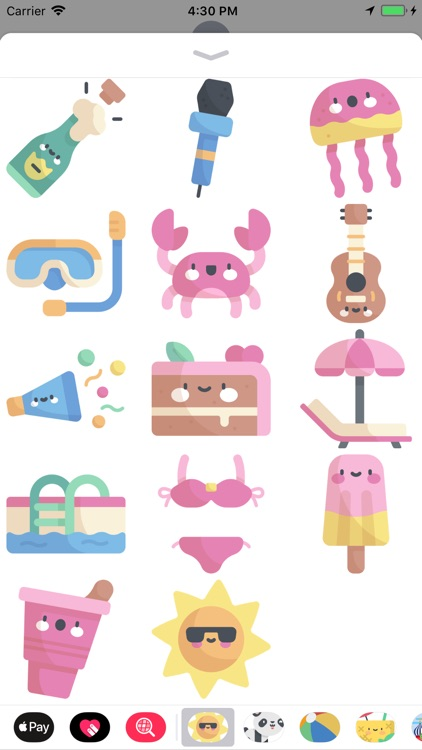 Cool Summer Party Stickers screenshot-3