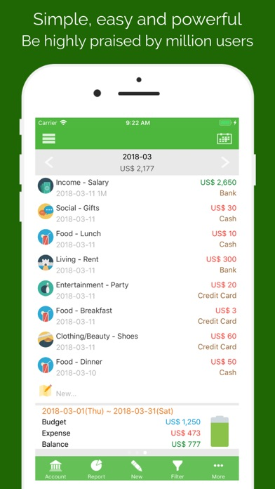 AndroMoney Screenshots