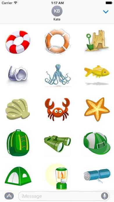 Summer And Beach Icon Sticker screenshot 4