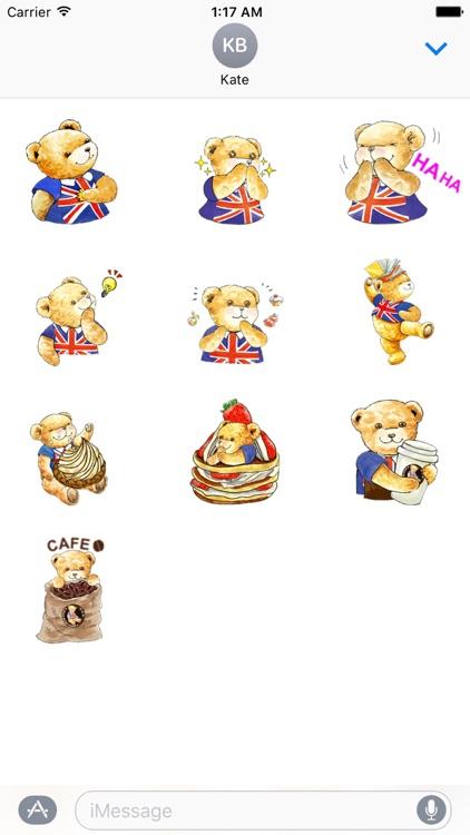 Classic English Teddy Sticker