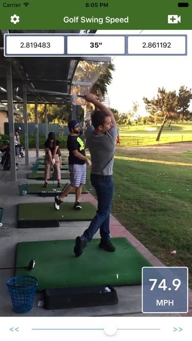 Golf Swing Speed Analyzer screenshot 2