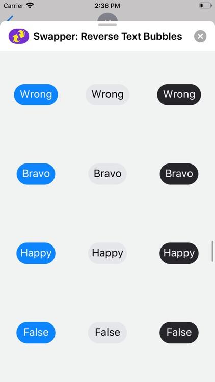 Swapper: Reverse Text Bubbles screenshot-7