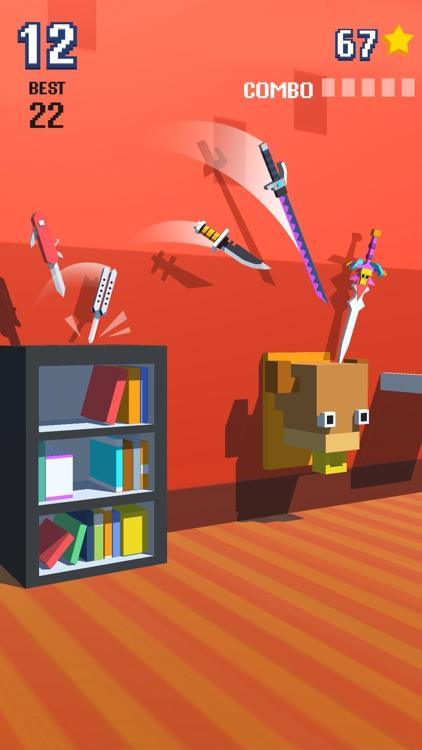Knife Flip - Hit Geometry Cube screenshot-0