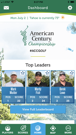 American century celebrity golf tournament leaderboard
