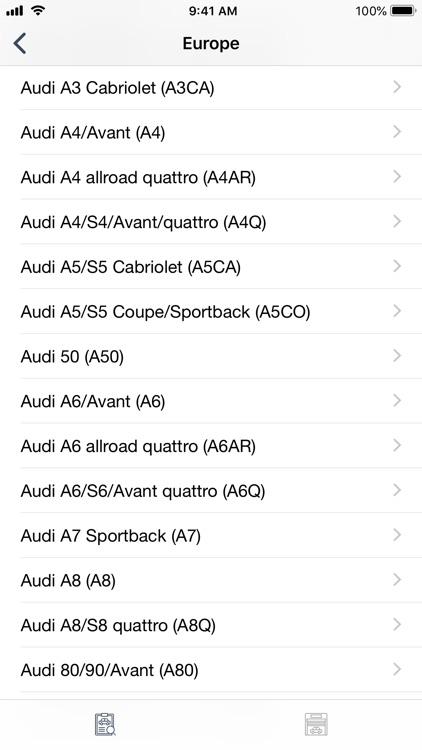 Car parts for Audi - diagrams screenshot-4