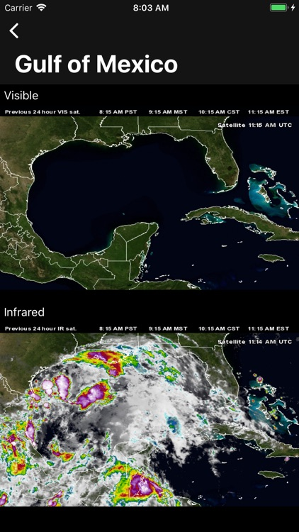 NOAA Hurricane Center screenshot-0