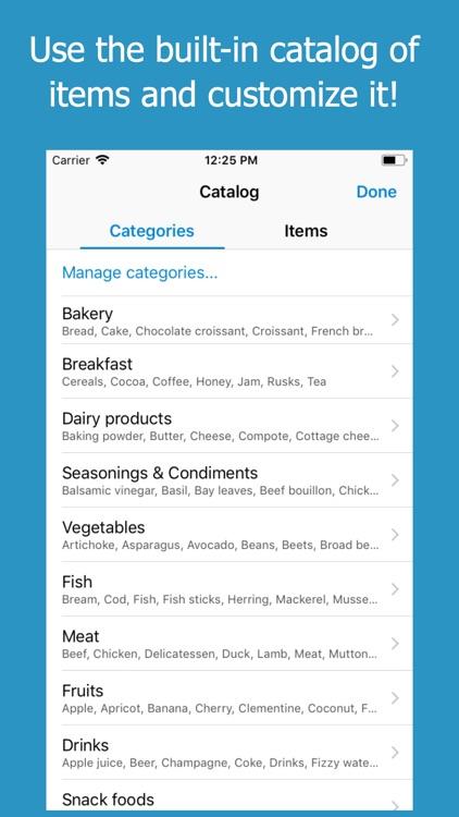 Shoppylist (Grocery List) screenshot-3