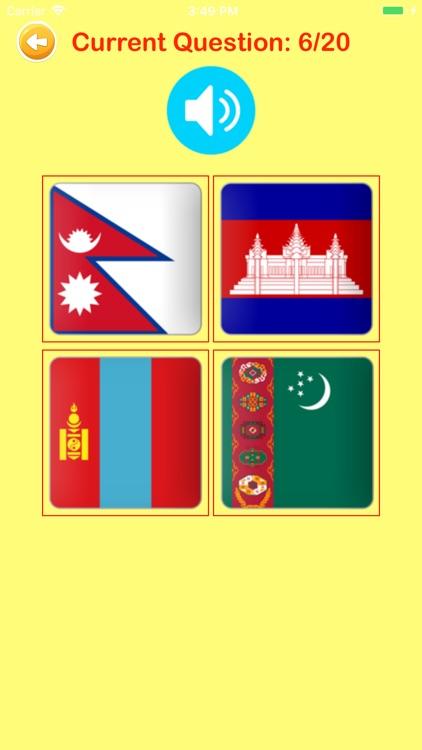 Learn Countries Flags Quiz screenshot-6