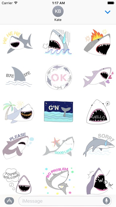 Funny Shark SharkMoji Sticker screenshot 1