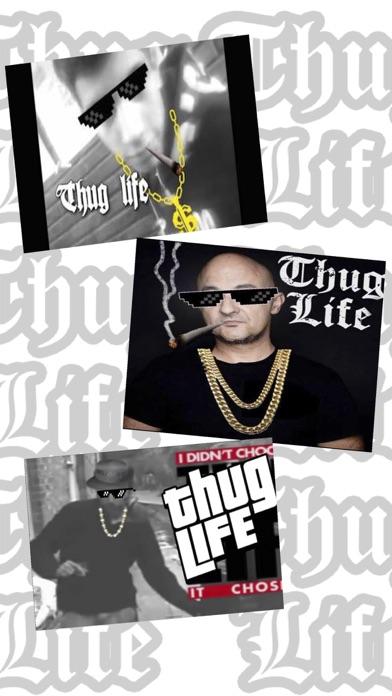 Thug Life 写真 編集者 ステッカー メーカー紹介画像1