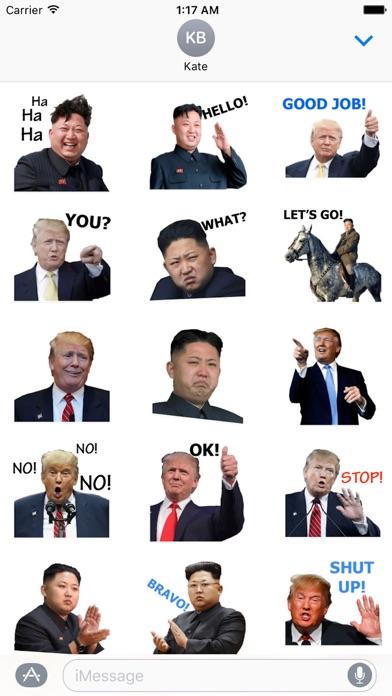 Trump And Kim Emoji Sticker screenshot 1