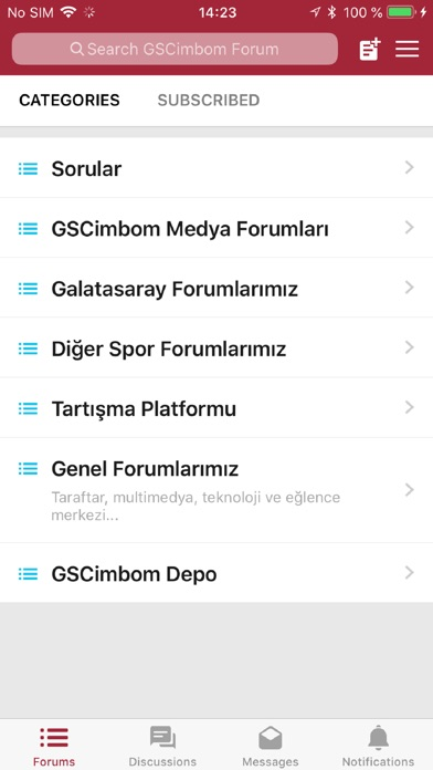 Image of GSCimbom Forum for iPhone