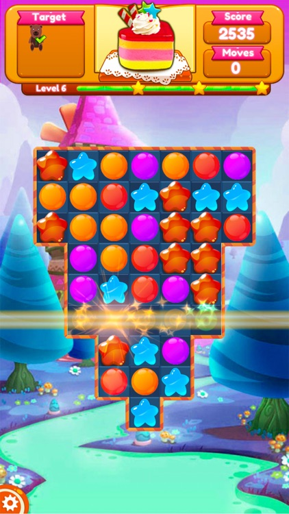 Sweet Candy Blast Fruit puzzle screenshot-6