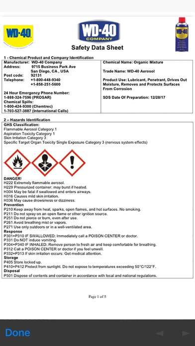 SDS Mobile by KHA, Online-MSDS (iOS, United States