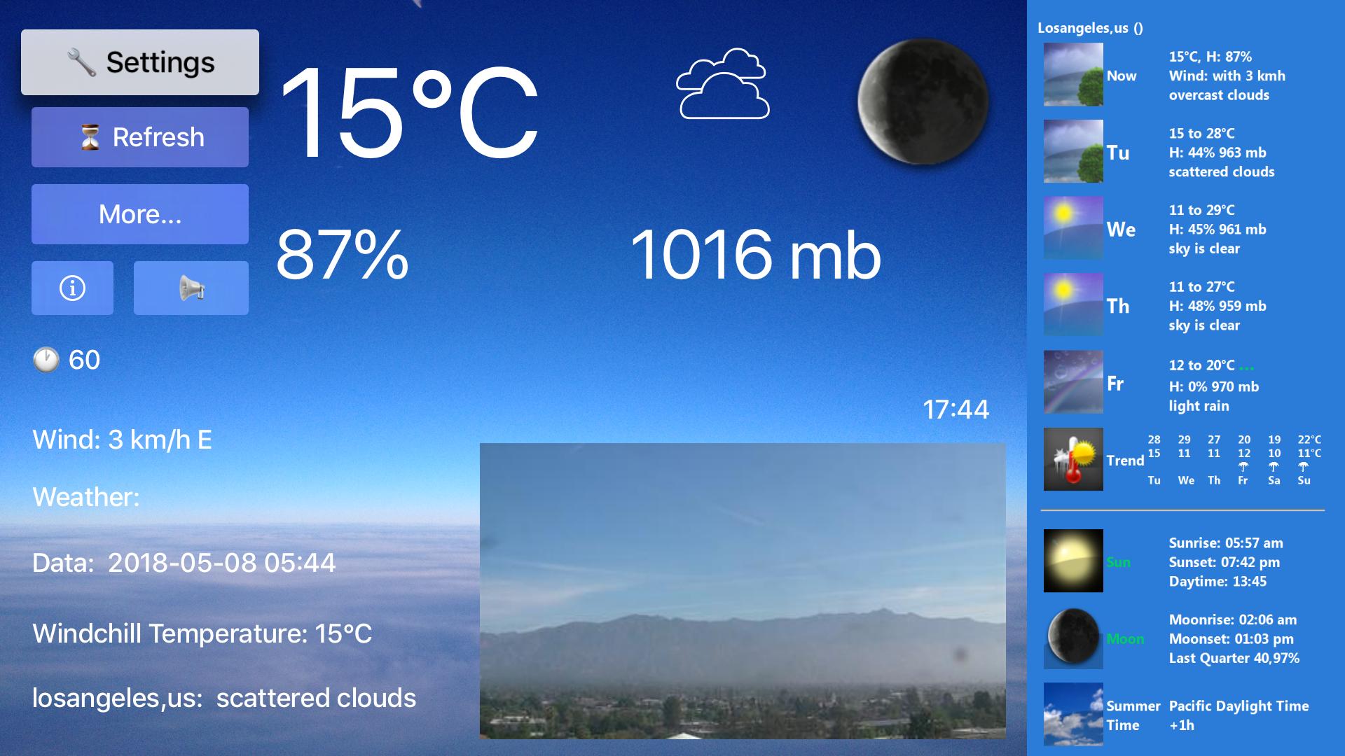 TV Weather & Webcams screenshot 1