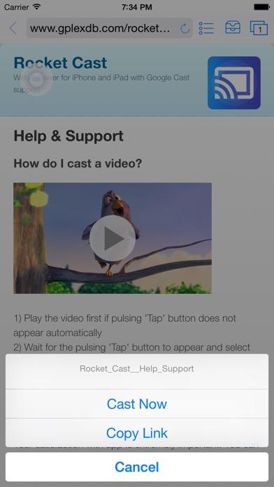 Rocket Video Cast | Chromecast Screenshots