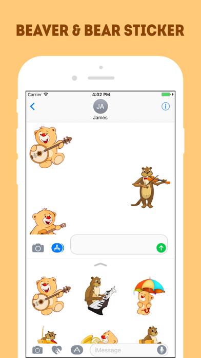 Screen Shot The Beaver and Bear Emojis 3