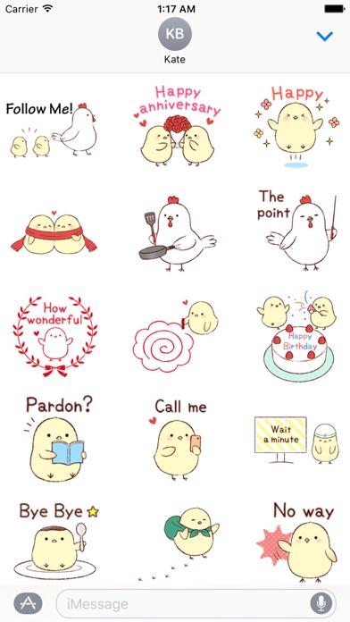 Cute Chicks And Mother Sticker Screenshot