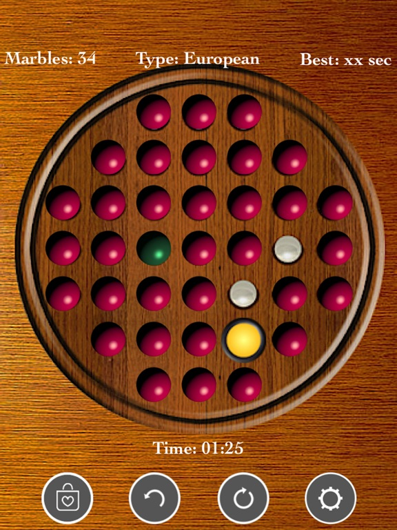 Brainvita Peg Solitaire Game screenshot 6