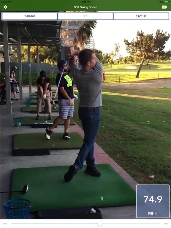 Golf Swing Speed Analyzer screenshot 5