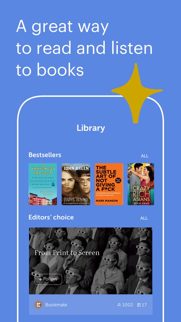 Bookmate: Read. Listen. Enjoy. Screenshot