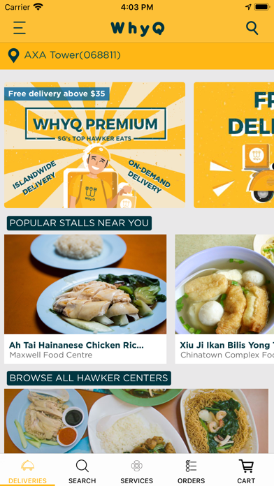 WhyQ Hawker DeliveryScreenshot of 3