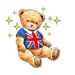Classic English Teddy Sticker