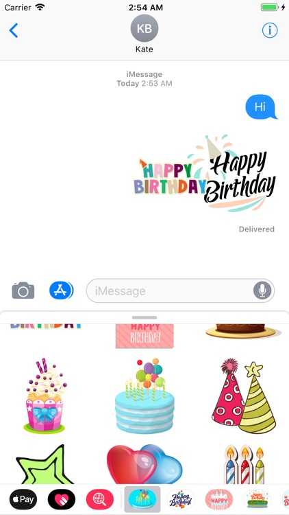 Wish Happy Birthday Stickers