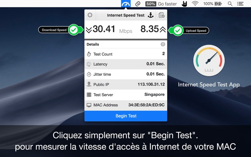 Screenshot Internet Speed Test App